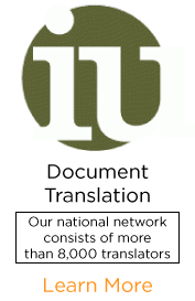 Document Translation: We provide superior translation and transcription service with quick turnaround times for all types of documents and media.